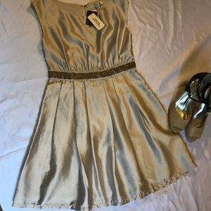 Forever 21 Champagne Gold Beaded Dress